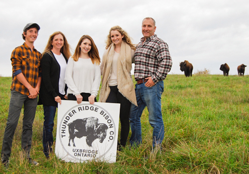 The Arnold Family, Thunder Ridge Bison Co., Uxbridge, Ontario